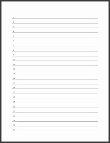 if you need to make a list use this free printable numbered line paper form