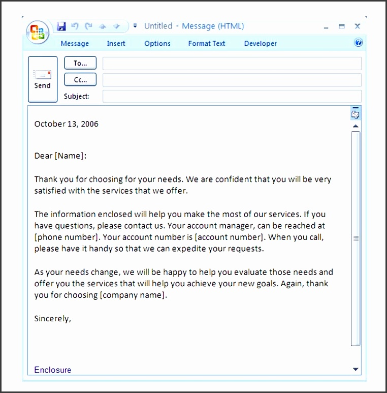 5  blank introduction email to client