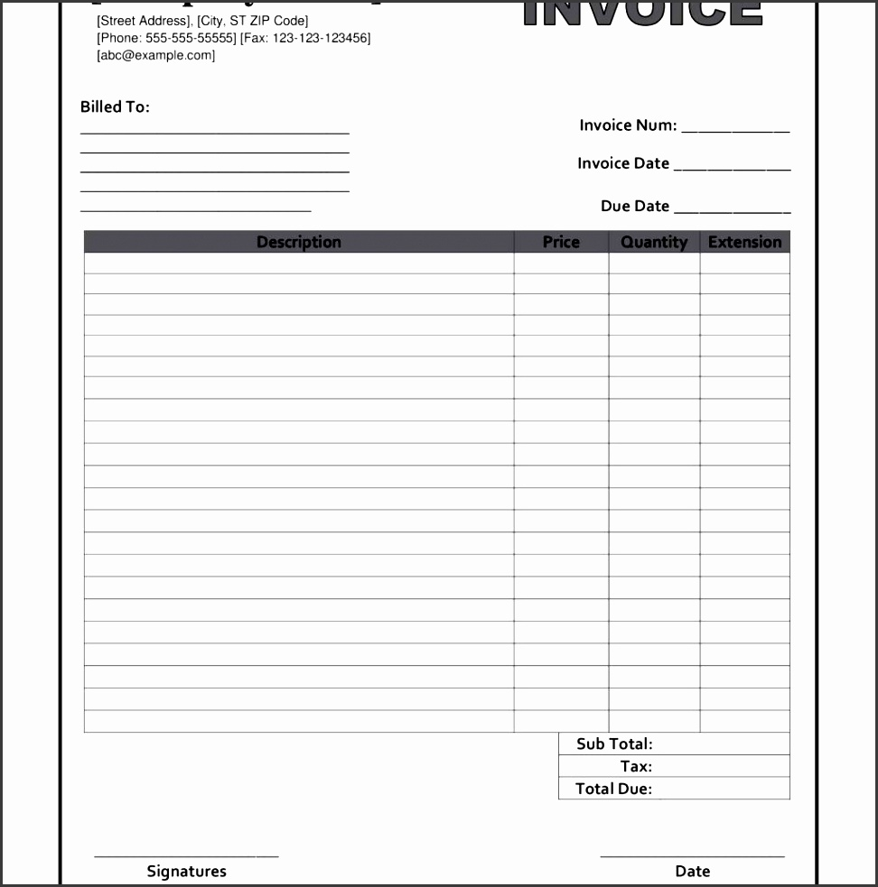 It's just a picture of Wild Free Printable Invoices Forms
