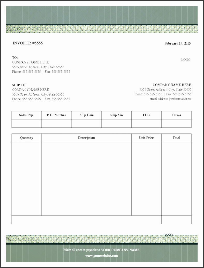 blank invoice template free templates pdf blank invoice tem