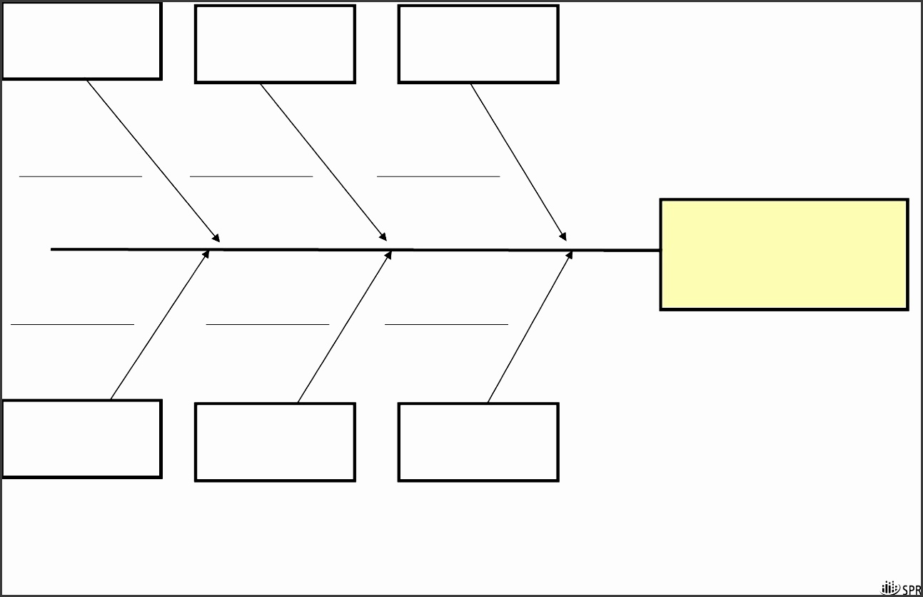 5 Blank ishikawa    Diagram    Template  SampleTemplatess