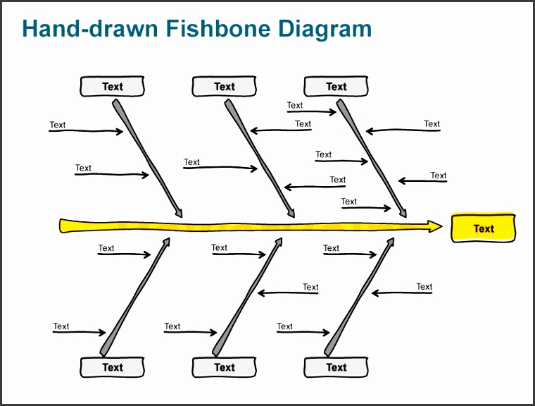 business fishbone diagrams hand sketched ppt