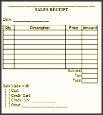 free printable sales receipts