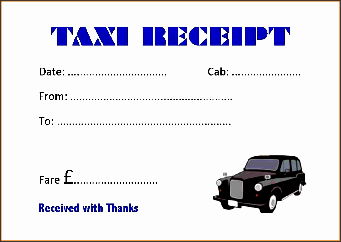 This is an image of Accomplished Printable Taxi Receipts