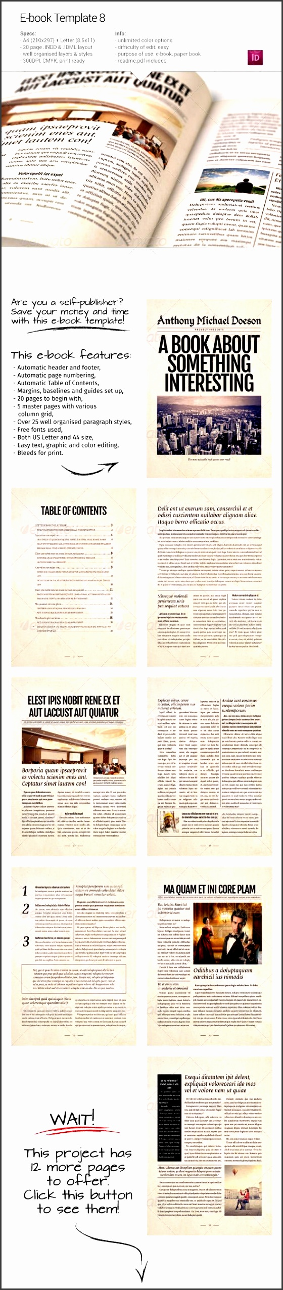 10 book table of contents template sampletemplatess for Cookbook table of contents template