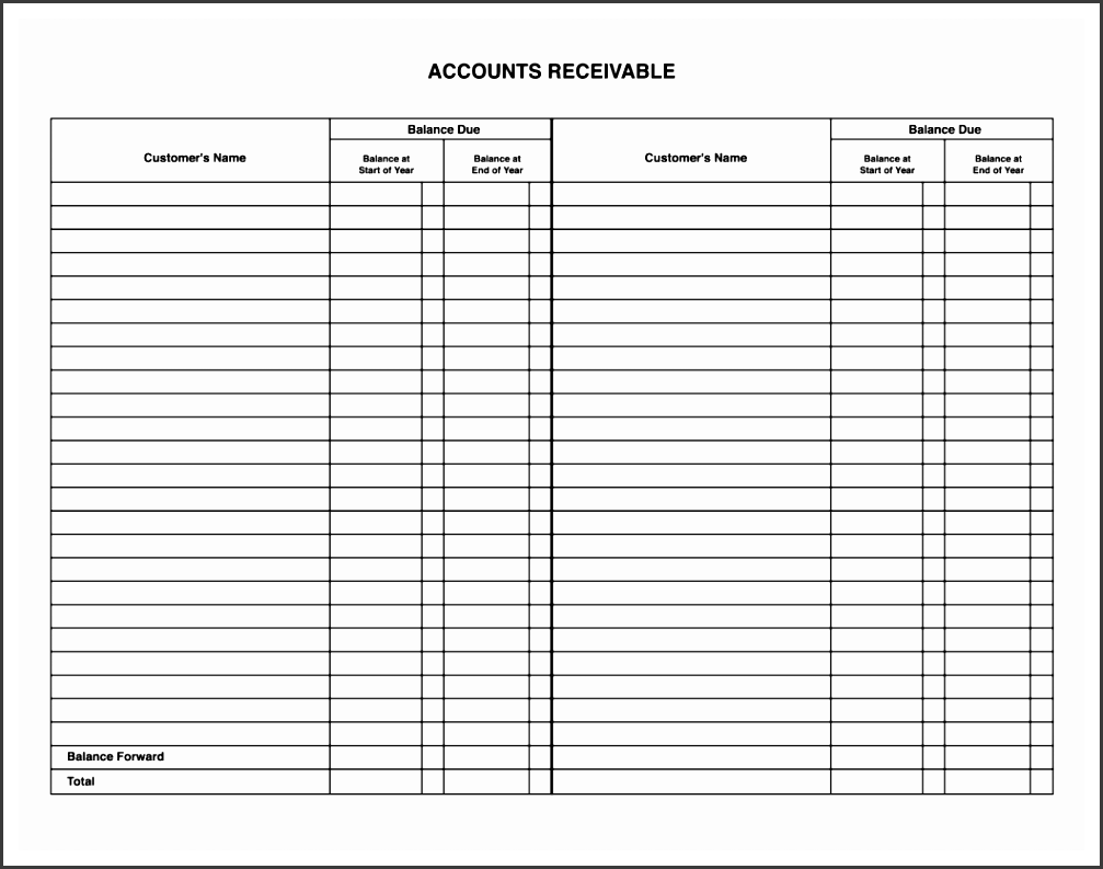 Rental Ledger Template Free Websites Office  General Ledger Template