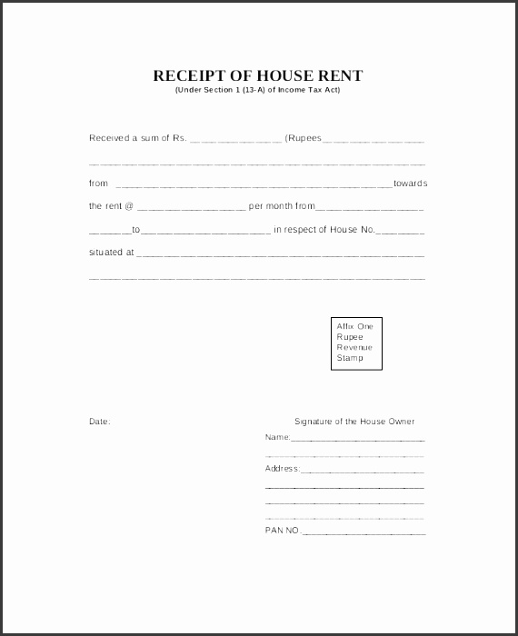 7 building rent receipt template