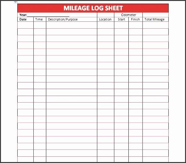 8 bus mileage log template