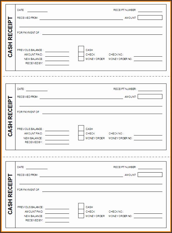 5  business cash receipt template