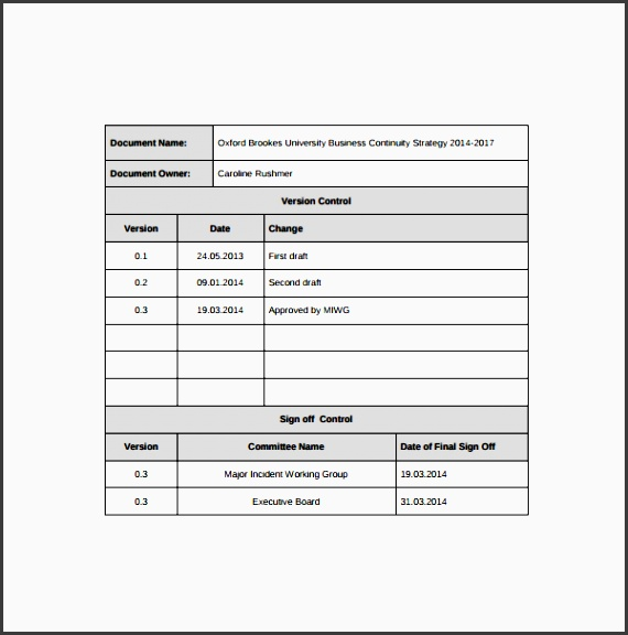 business resumption plan template - 9 business continuity plan outline sampletemplatess