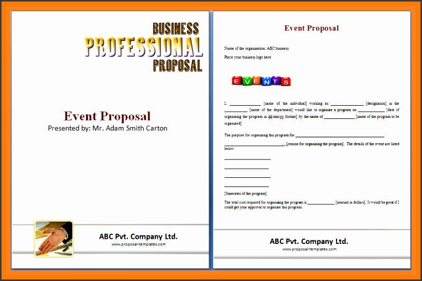 event proposal sample doc event proposal template doc
