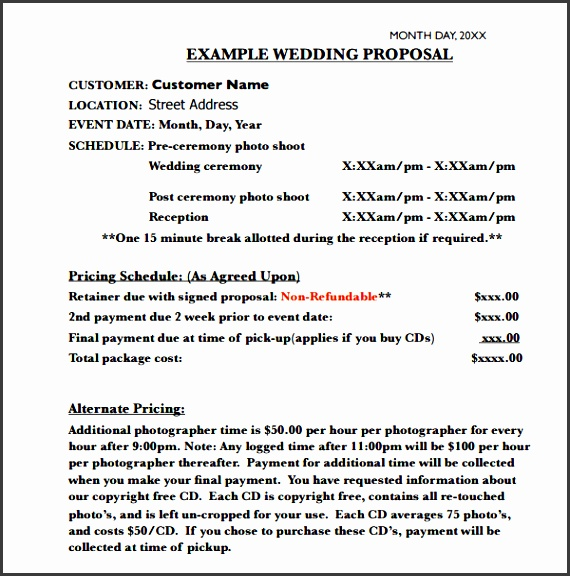 4+ Business Event Proposal Template