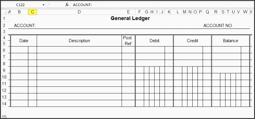 business ledger template
