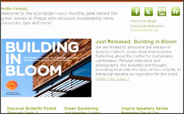 phipps eco insider email newsletter