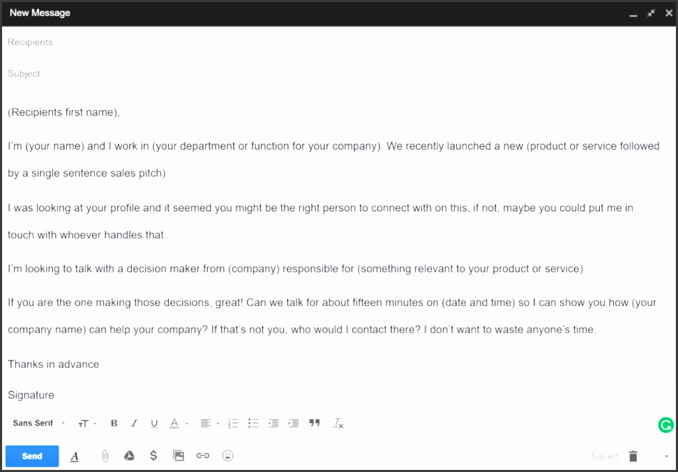 cold email template 4