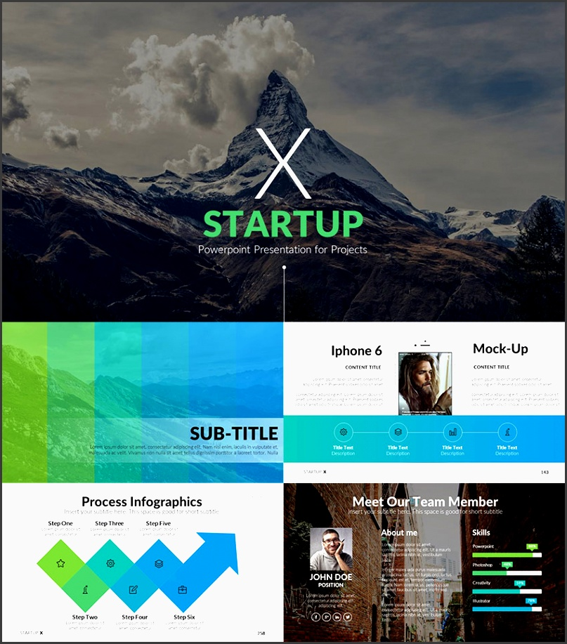 startup x perfect pitch deck powerpoint template