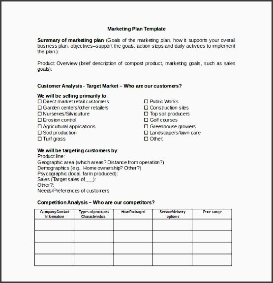 10 business tactical marketing plan template sampletemplatess marketing plan template for microsoft word saigontimesfo