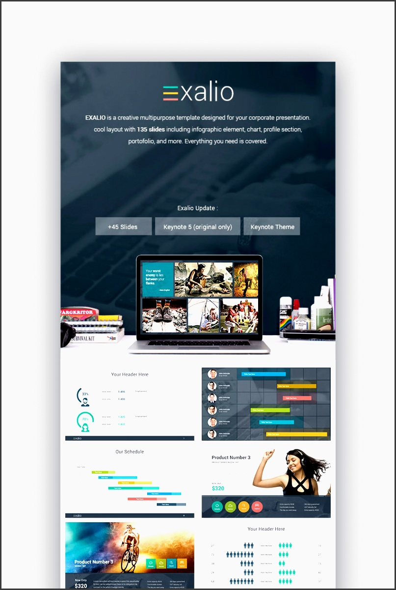 exalio business keynote template for mac