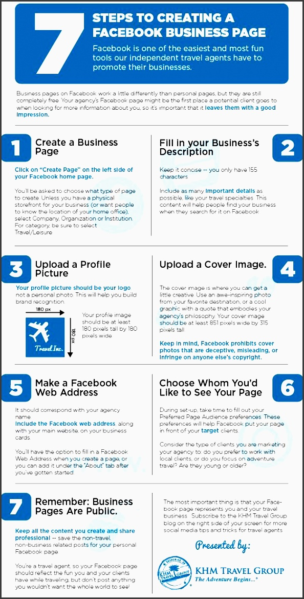 7 steps to creating a business page for your travel agency