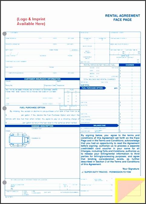 rental agreement sku style 1