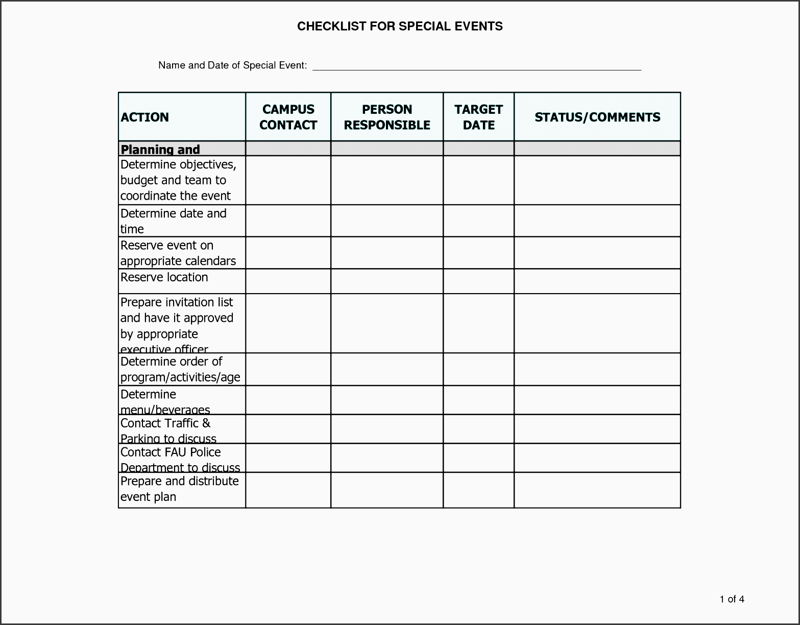 7 career planning checklist in excel