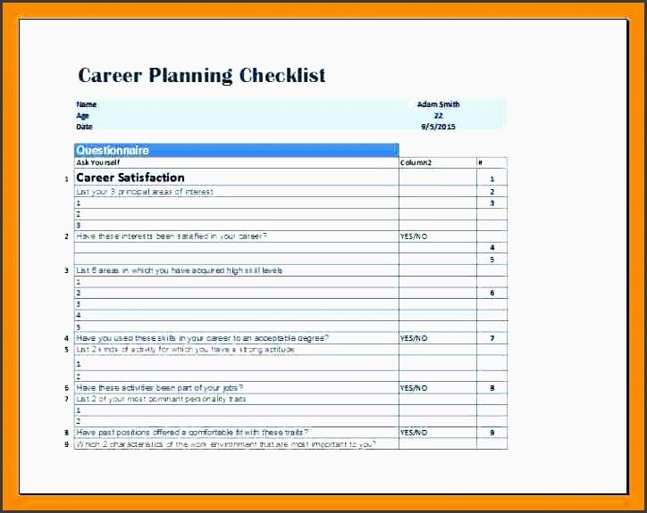 checklist design templatereer planning checklist template