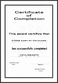 free certificate template of pletion a4 portrait circles