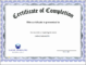 6+ Certificate Completion Template