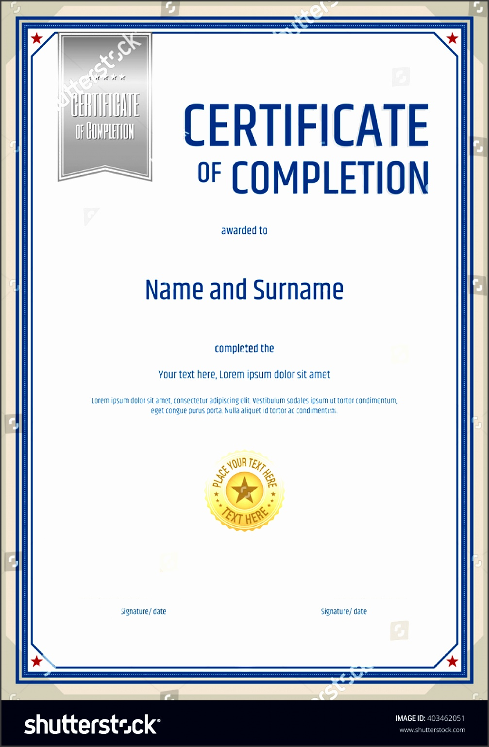 6  certificate completion template
