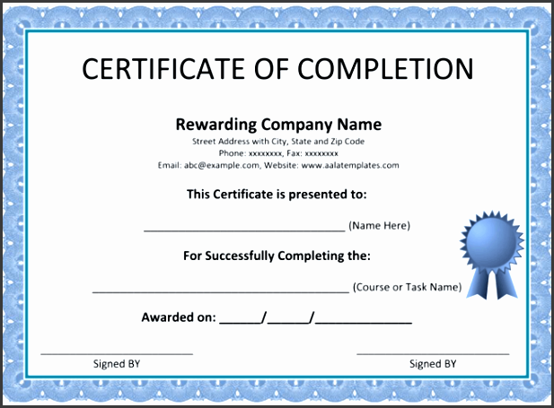 certification of pletion template certificate of pletion template 5 printable formats
