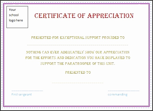 Certificate Of Appreciation Template Easy To Edit