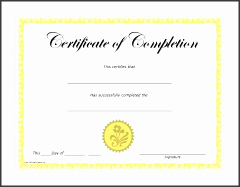 free certificate of pletion templates for word