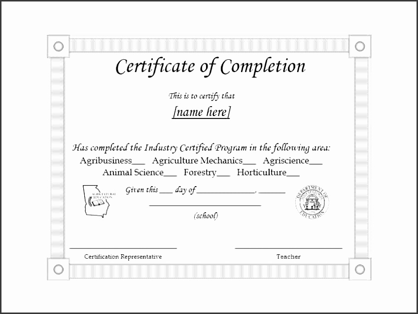training pletion certificate excel template certificate of pletion templates acclaim your employees students vendors and trainees with these