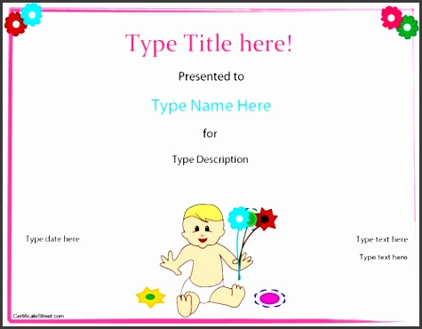 special certificate baby birth certificate template certificatestreet