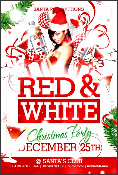 preview image set 01 red and white christmas party flyer front