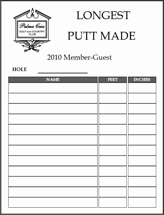 5  club member sign up sheet template