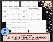 printable yearly planner 2017 2018 planner academic planner student planner bullet