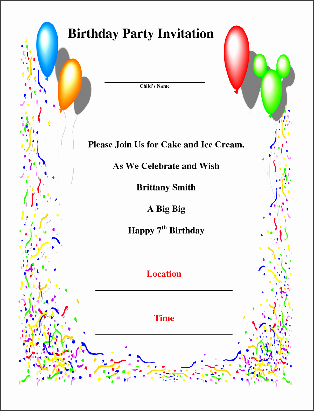 birthday party invite template and the model auà ergewà hnlich colors birthday invitations minimalis ideas 19