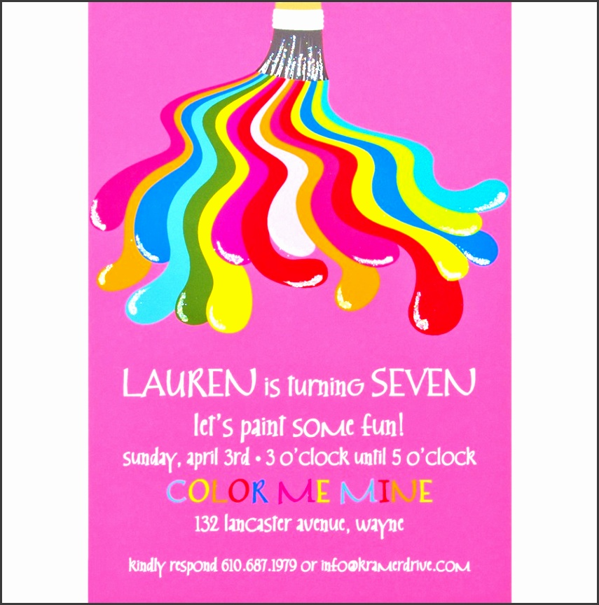 painting birthday party invitations as ely birthday invitation template designs for you