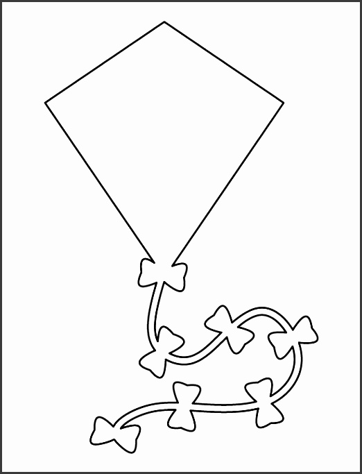 kite pattern use the printable outline for crafts creating stencils scrapbooking and