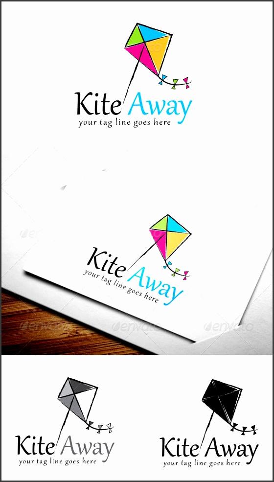 kite away logo template design logo templates