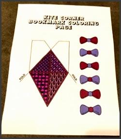 click here kite corner bookmark template