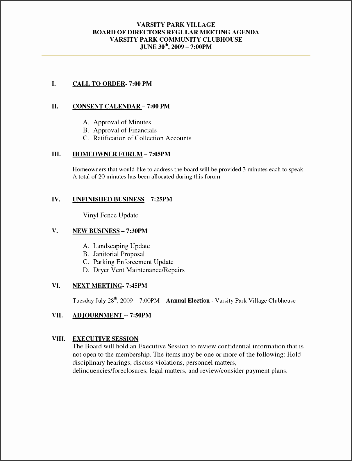 6  community meeting minutes template