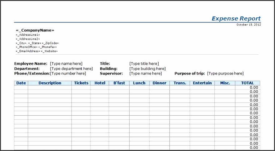 6 company daily report template
