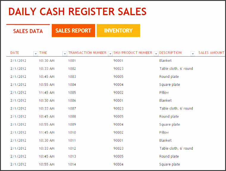 daily sales report template excel free 3