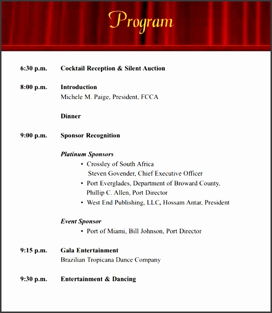 Company Event Program Template  Sampletemplatess  Sampletemplatess