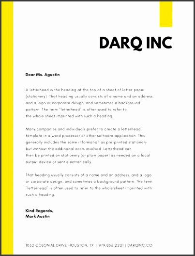 yellow simple pany letterhead