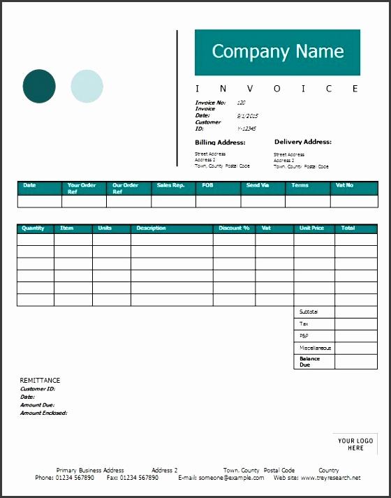 contractor invoice