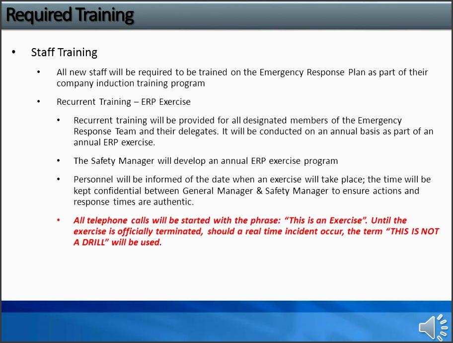 7 company staff training plan