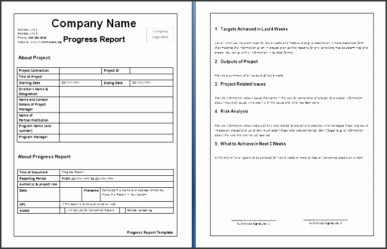 Company Weekly Report Template  Sampletemplatess  Sampletemplatess
